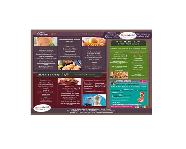 Mise en page menu