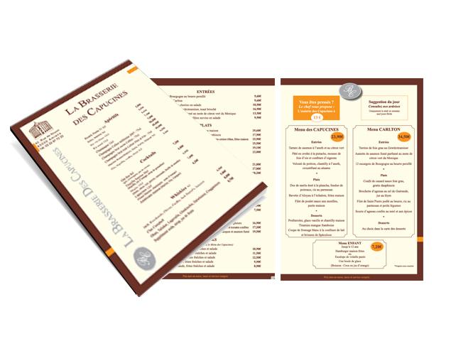 Création Charte graphique appliquée sur un menu