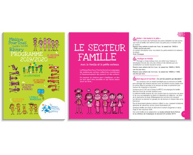 Brochure 40 pages - Mise en page et création illustrations