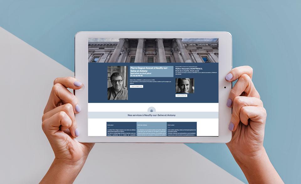Développement site Internet pour avocat