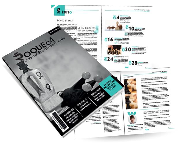 Magazine 32 pages - Mise en page